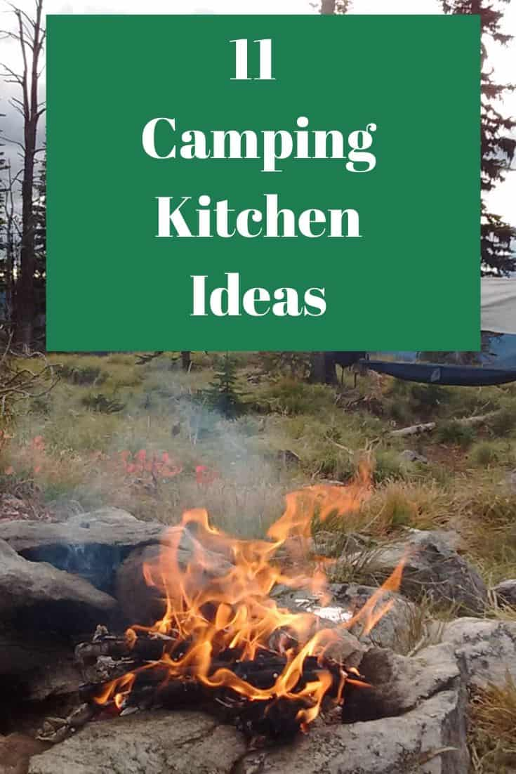 Pinterest image for 11 Camping Kitchen Ideas