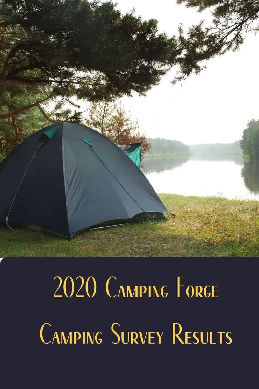 Pinterest image for 2020 Camping Forge Camping Survey Results