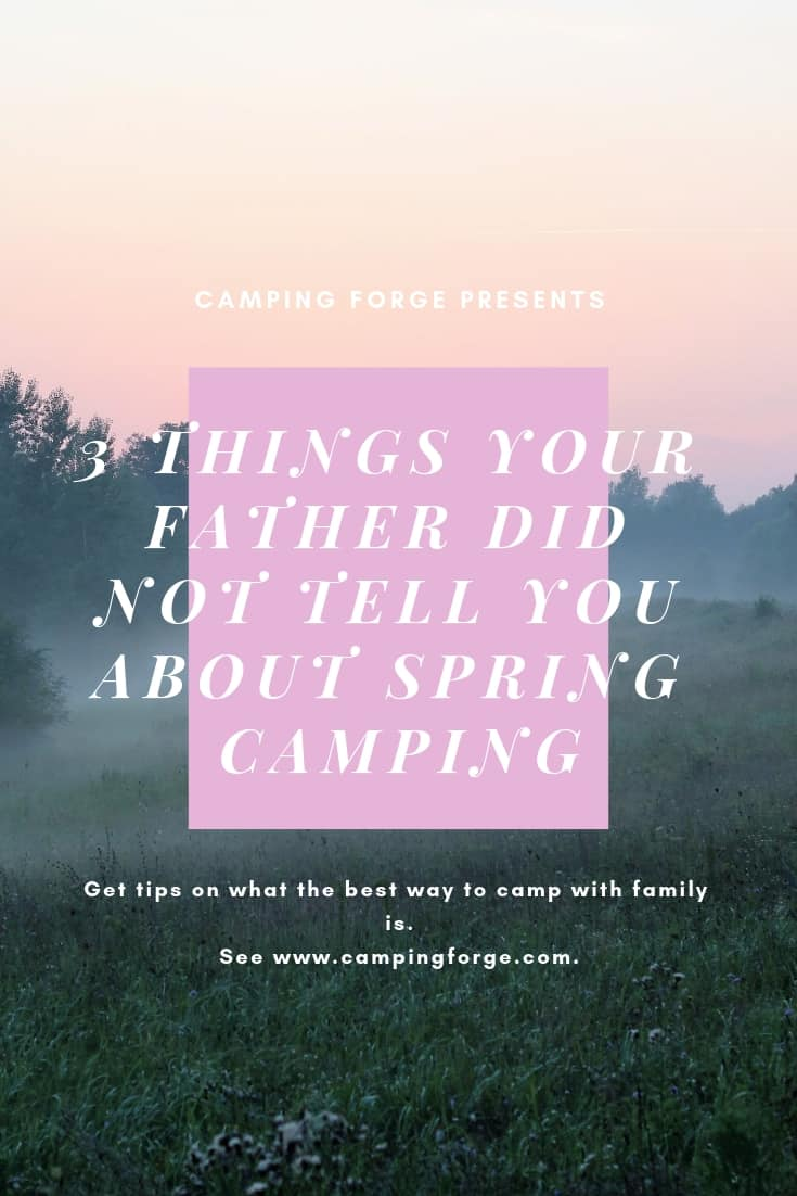 Pinterest image for 3 Things Your Father Did Not Tell You About Spring Camping