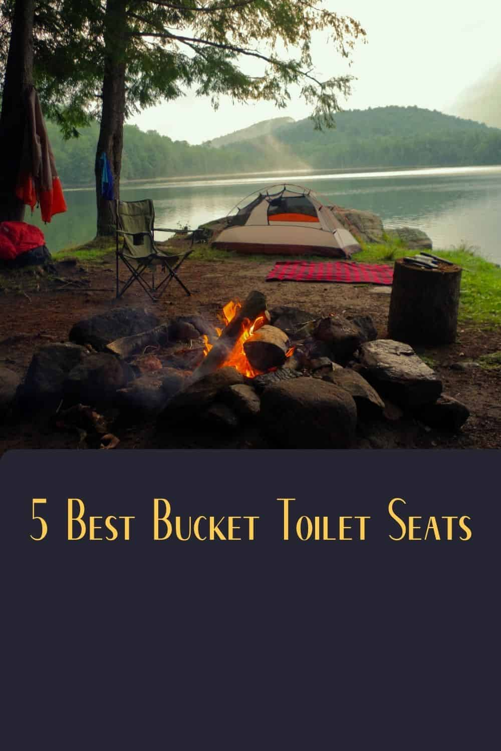 Pinterest image for 5 Best Bucket Toilet Seats