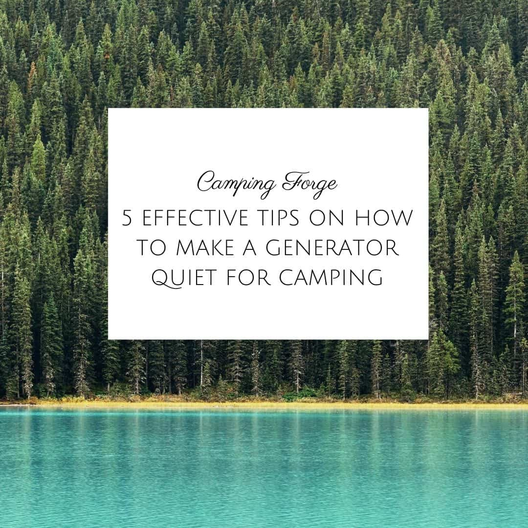 5 Effective Tips On How To Make A Generator Quiet For Camping