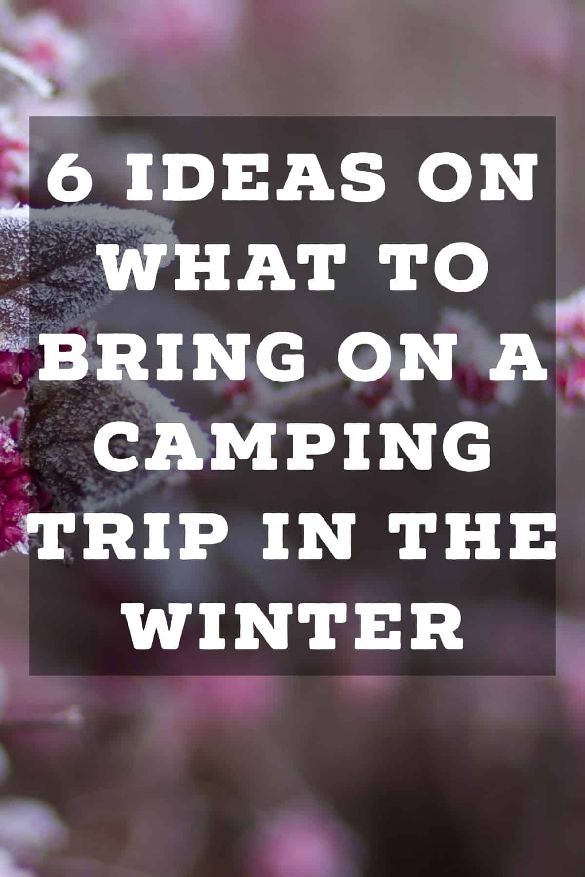 Pinterest image for 6 Ideas On What to Bring on a Camping Trip in the Winter