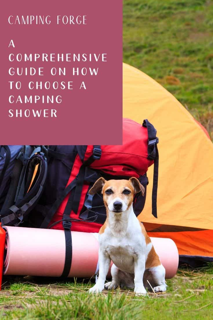Pinterest image for A Comprehensive Guide On How To Choose A Camping Shower In 2020