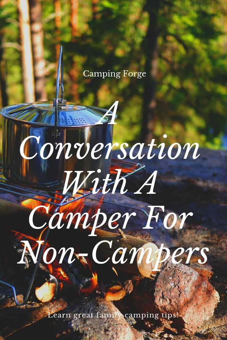 Pinterest image for A Conversation With A Camper For Non-Campers