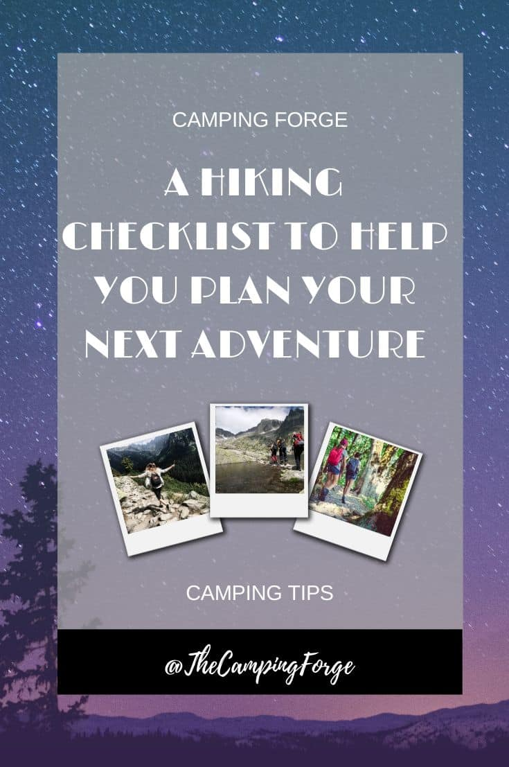 Pinterest image for A Hiking Checklist To Help You Plan Your Next Adventure