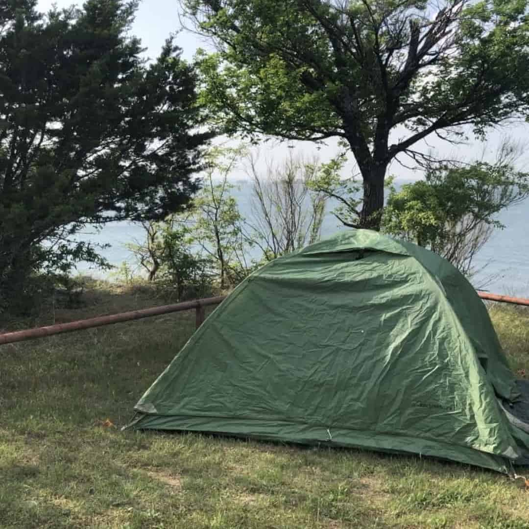 Example of a backpacking tent