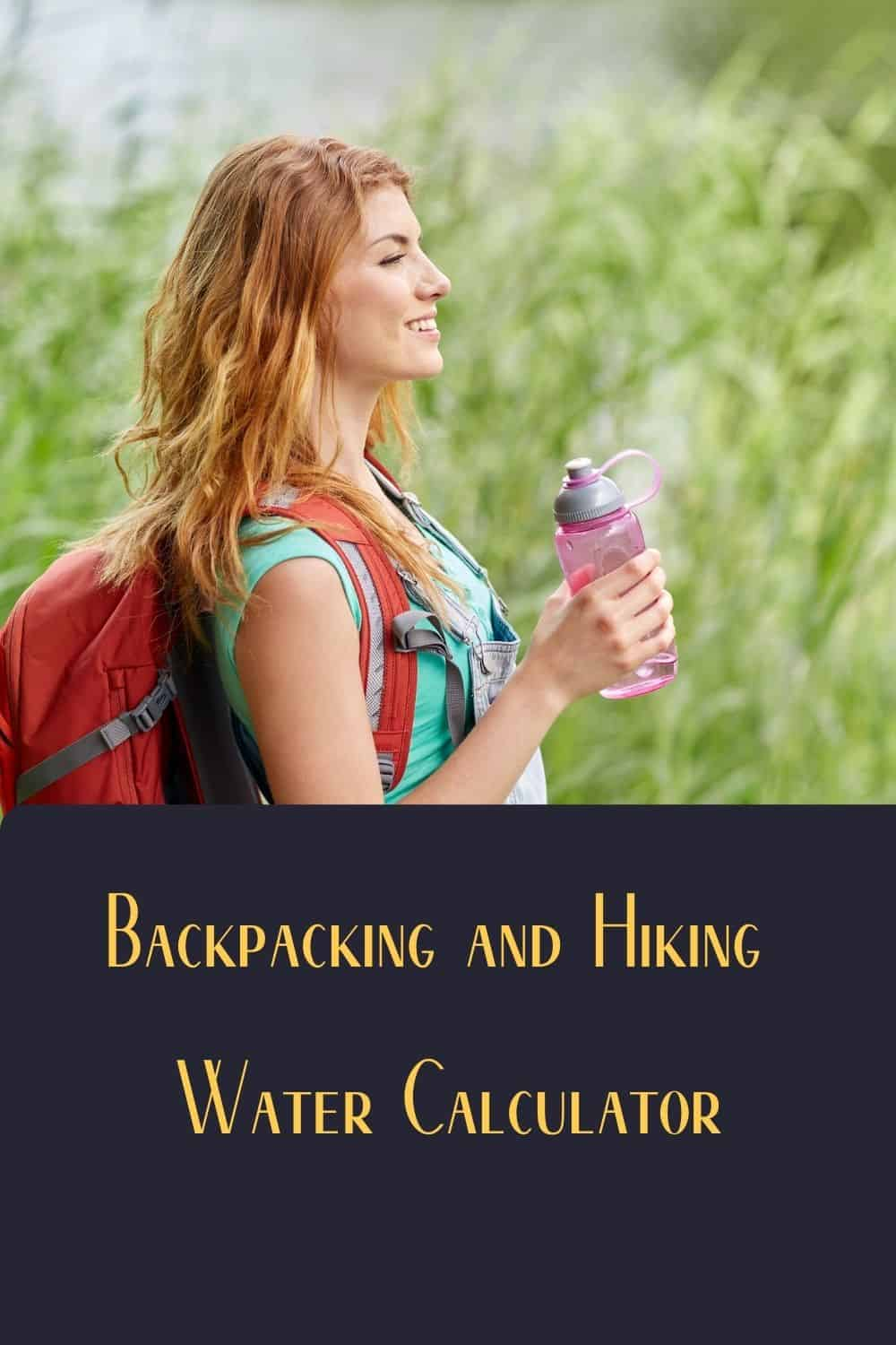 Pinterest image for Backpacking and Hiking Calculator