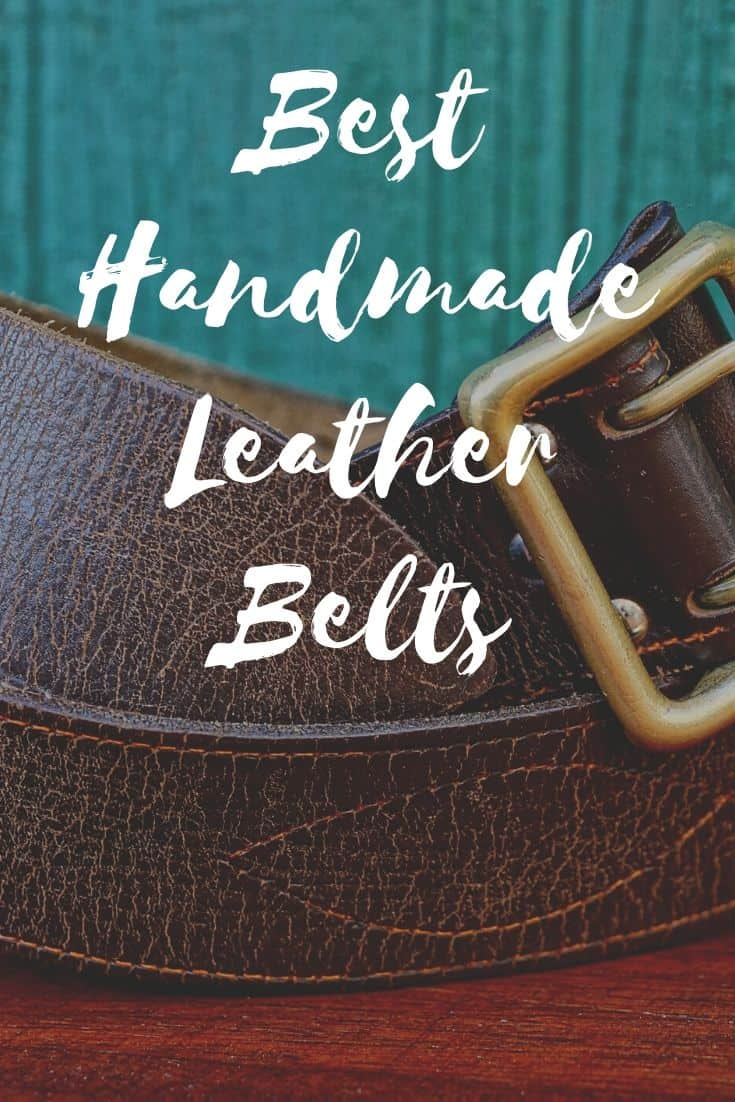 Pinterest image for Best Handmade Leather Belts
