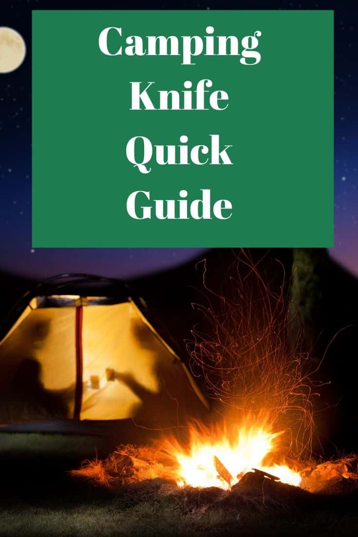 Pinterest image for Camping Knife Quick Guide