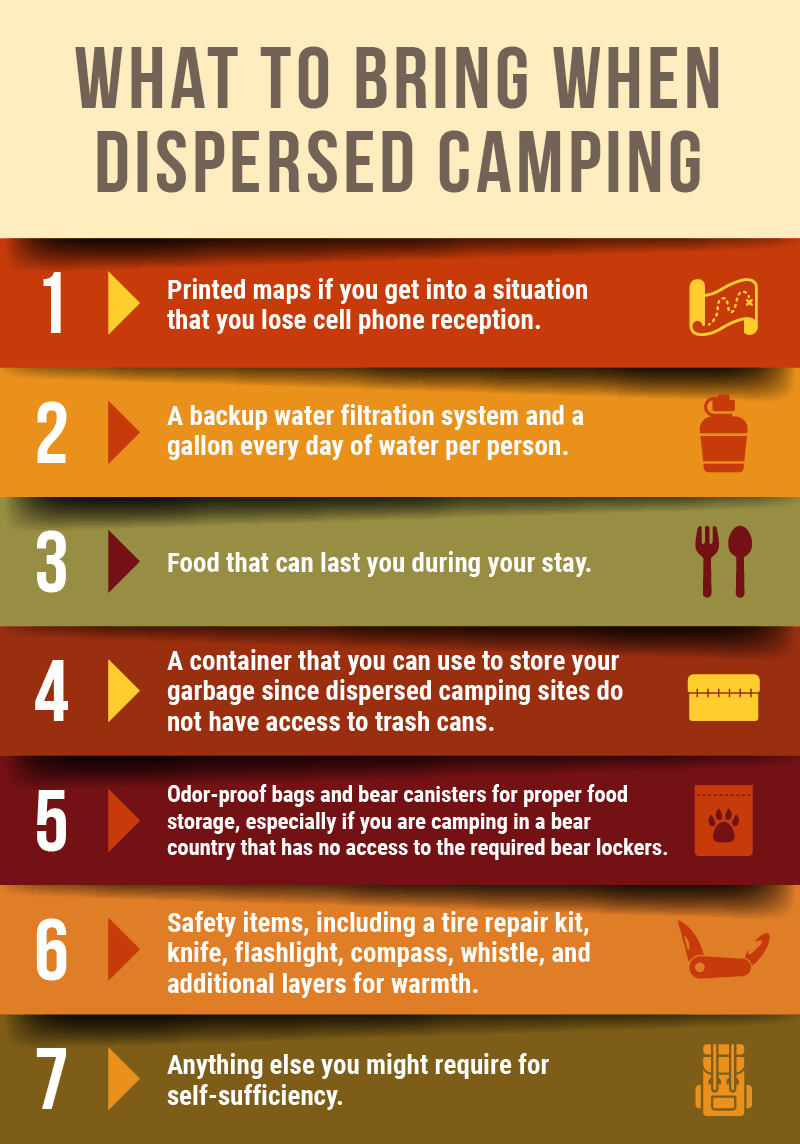 Dispersed camping infographic 2