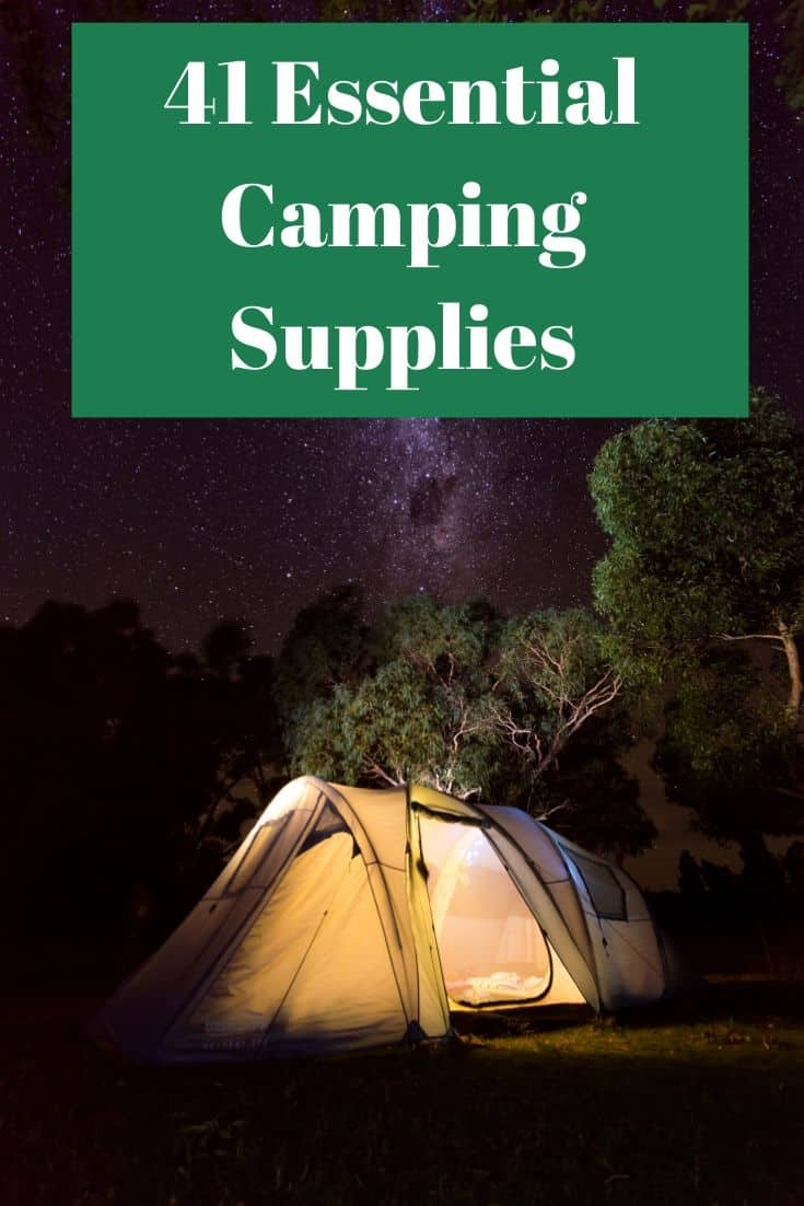 Pinterest image for 41 Essential Camping Supplies