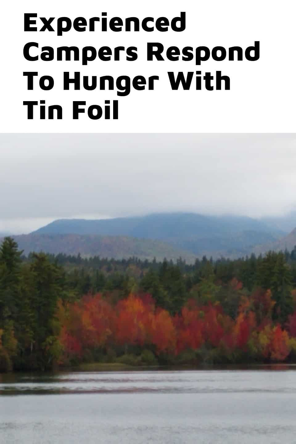 Pinterest image for Experienced Campers Respond To Hunger With Tin Foil