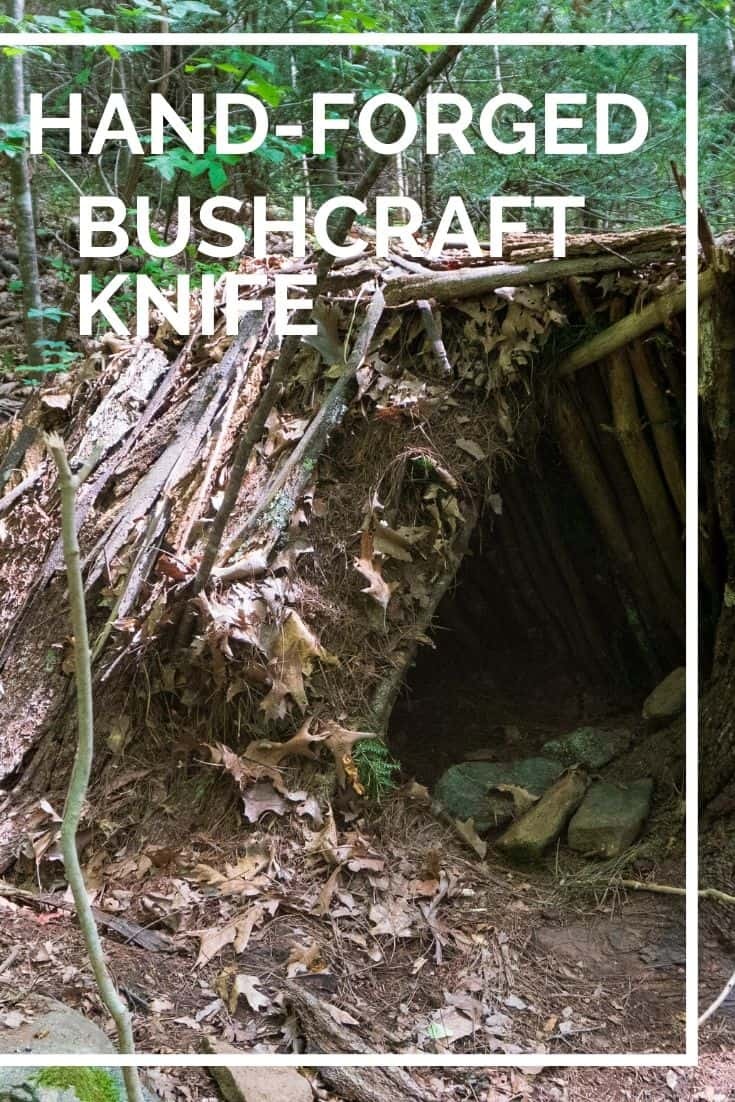 Pinterest image for Hand Forged Bushcraft Knife