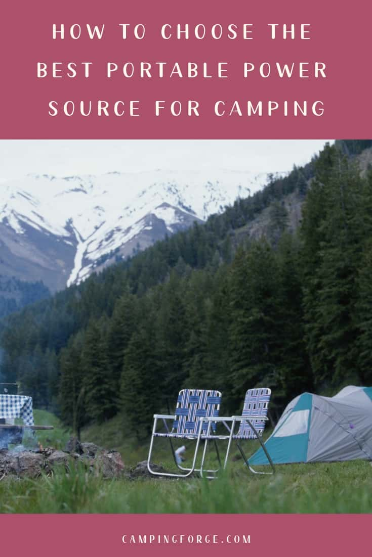 Pinterest image for How To Choose The Best Portable Power Source For Camping