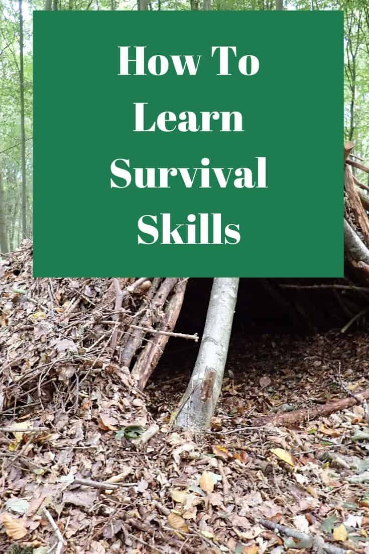 Pinterest image for How To Learn Survival Skills