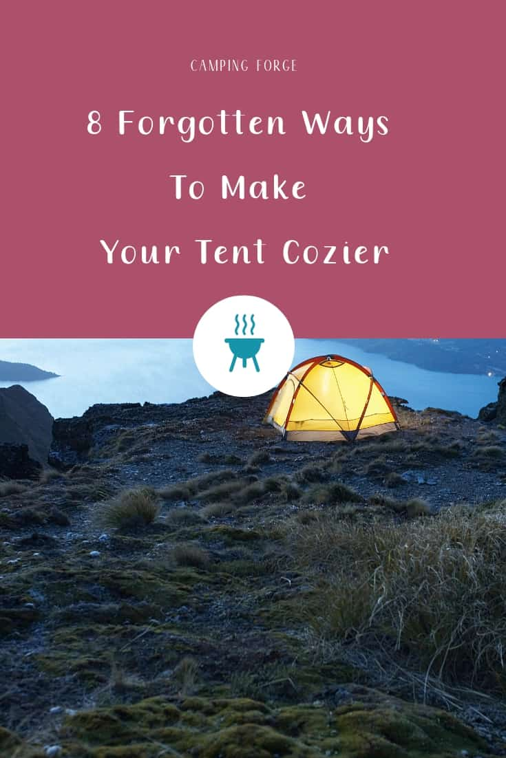 Pinterest image for 8 Forgotten Ways To Make Your Tent Cozier In 2020