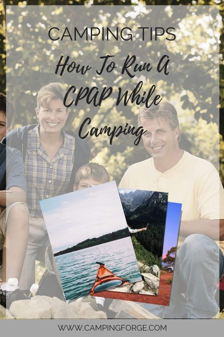Pinterest image for How To Run A CPAP While Camping