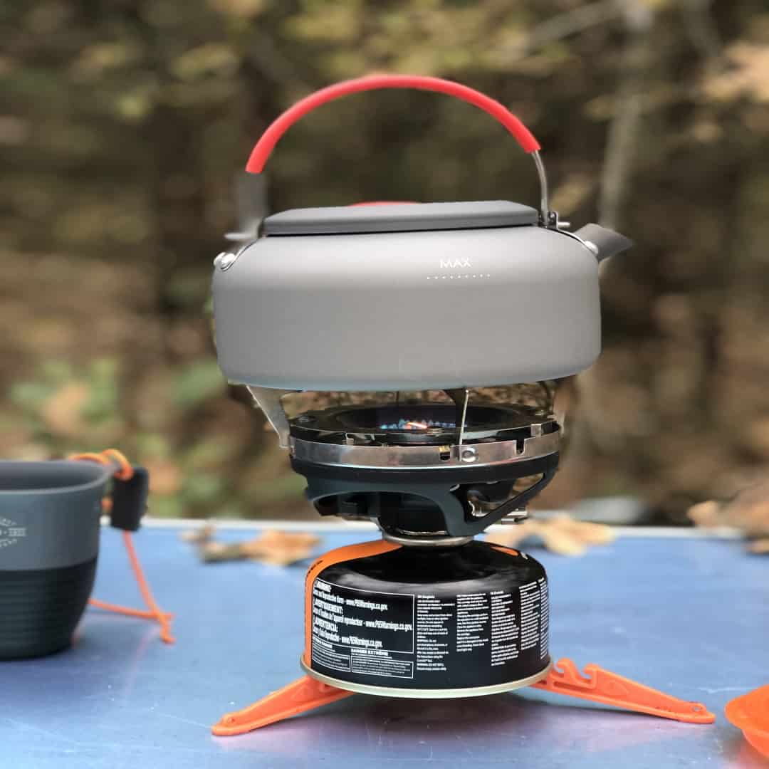 My Jetboil Tea Kettle I use to make instant coffee while camping