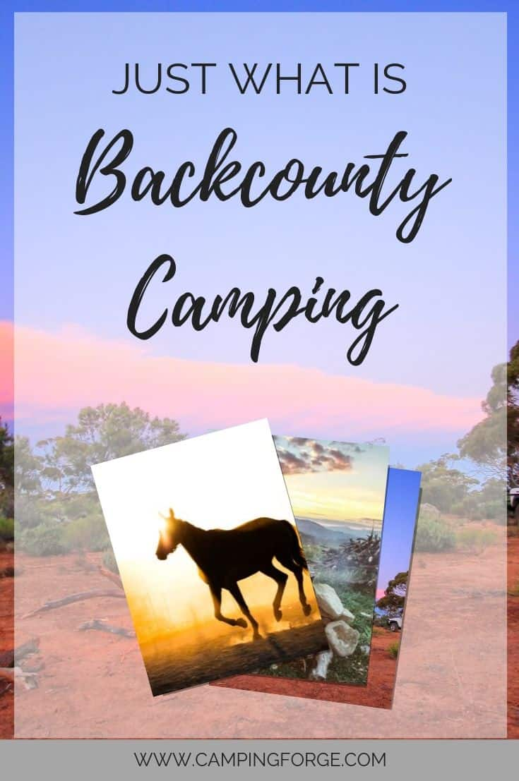 Pinterest image for Just What Is Backcountry Camping?