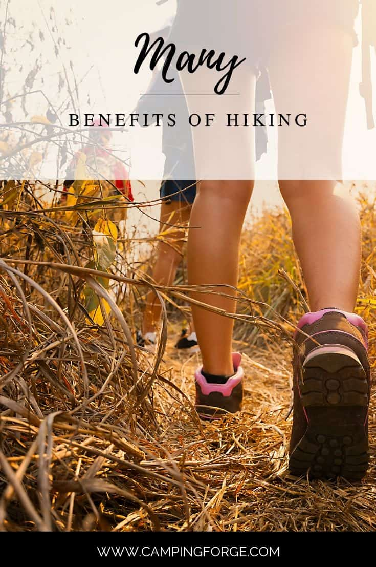 Pinterest image for Many Benefits of Hiking