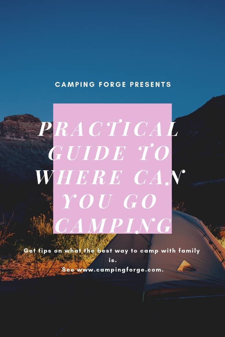 Pinterest image for Practical Guide To Where Can You Go Camping
