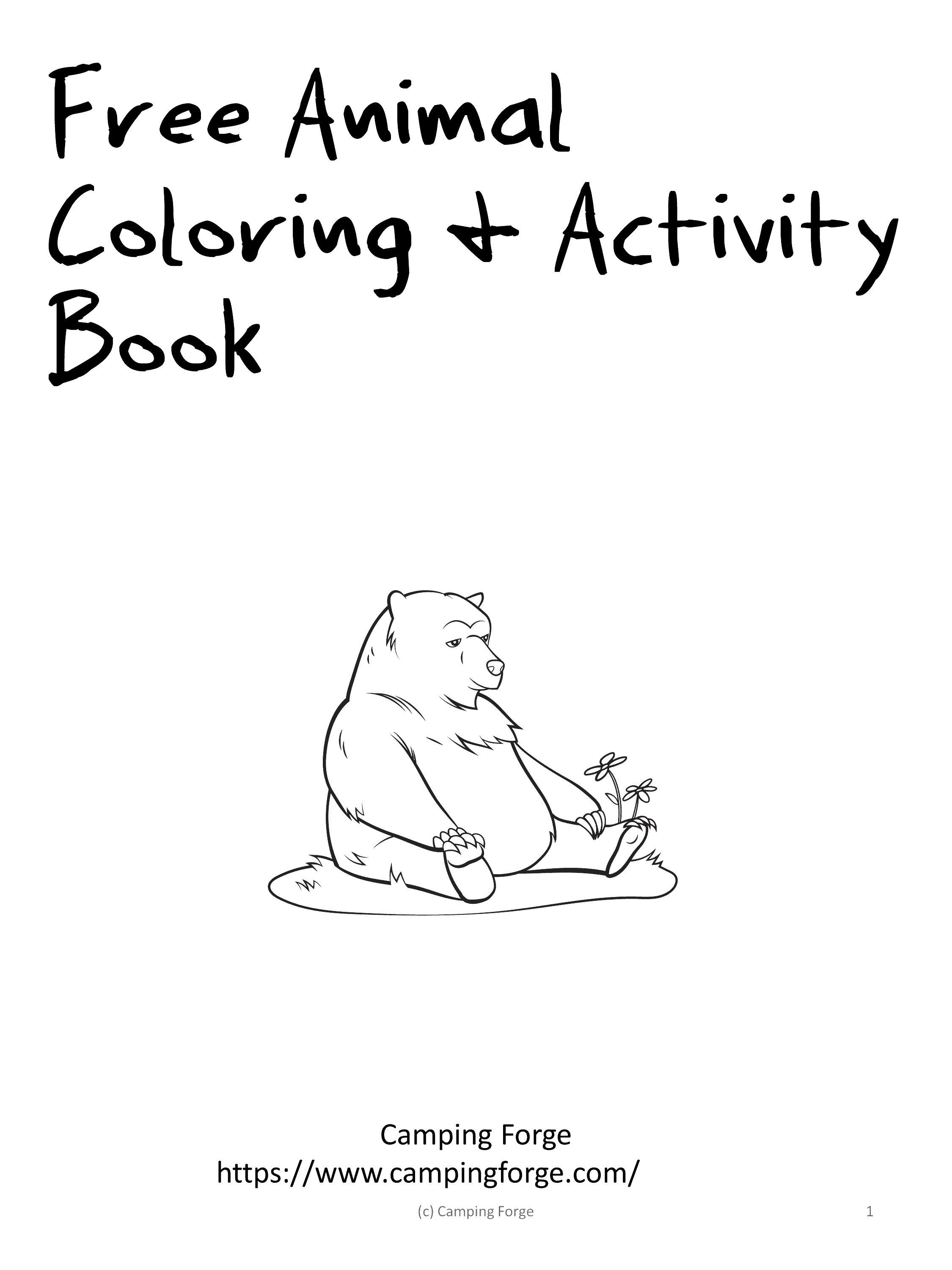 free animals of the usa coloring activities free