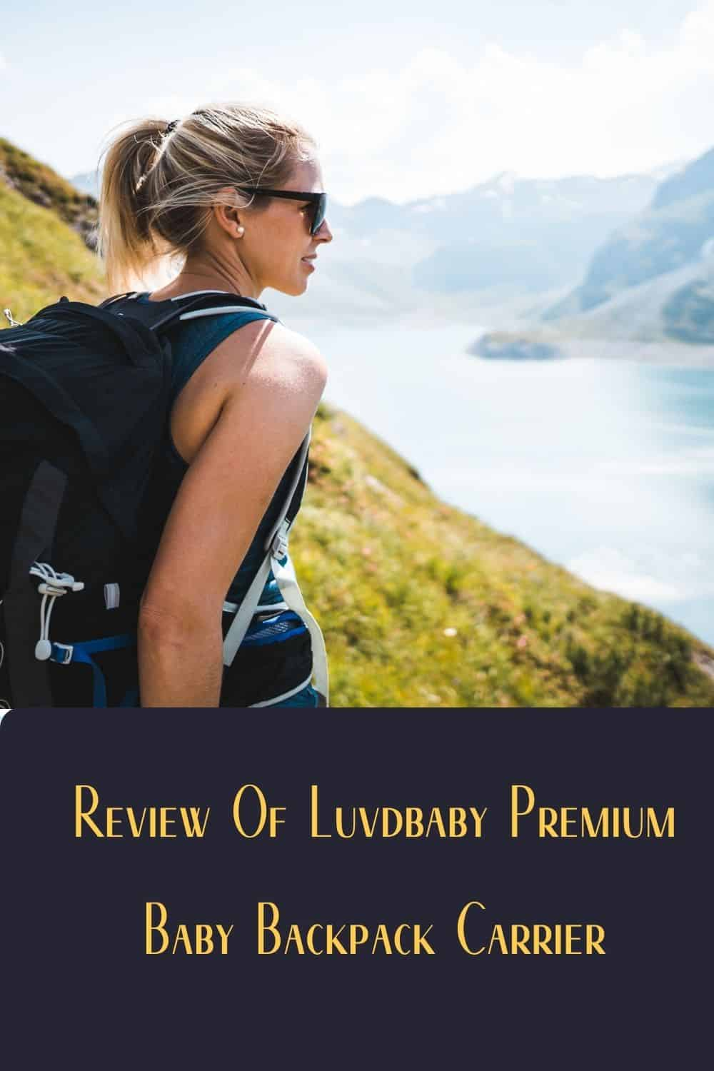 Pinterest image for Review Of Luvdbaby Premium Baby Backpack Carrier