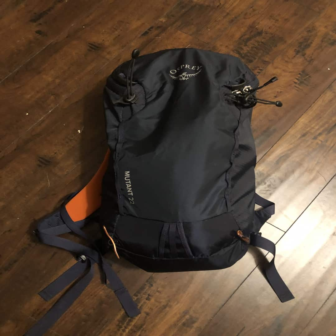 Example of a survival hiking pack or daypack