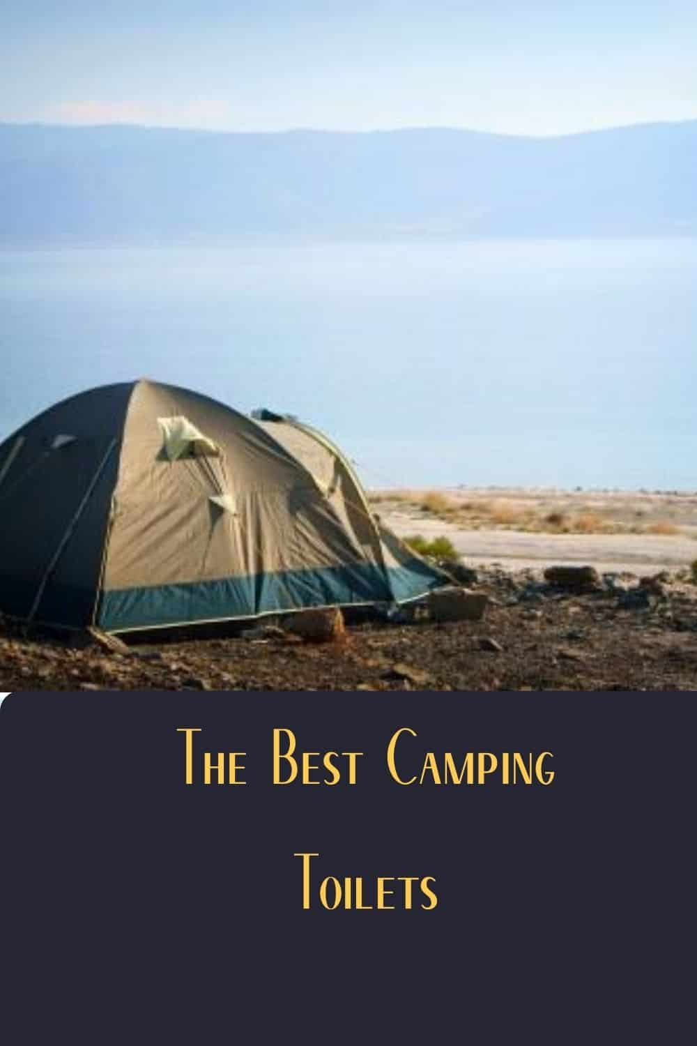 Pinterest image for The Best Camping Toilets