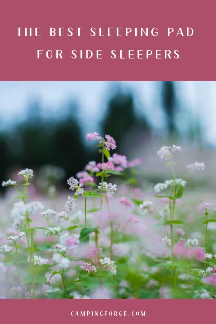 Pinterest image for The Best Sleeping Pad For Side Sleepers
