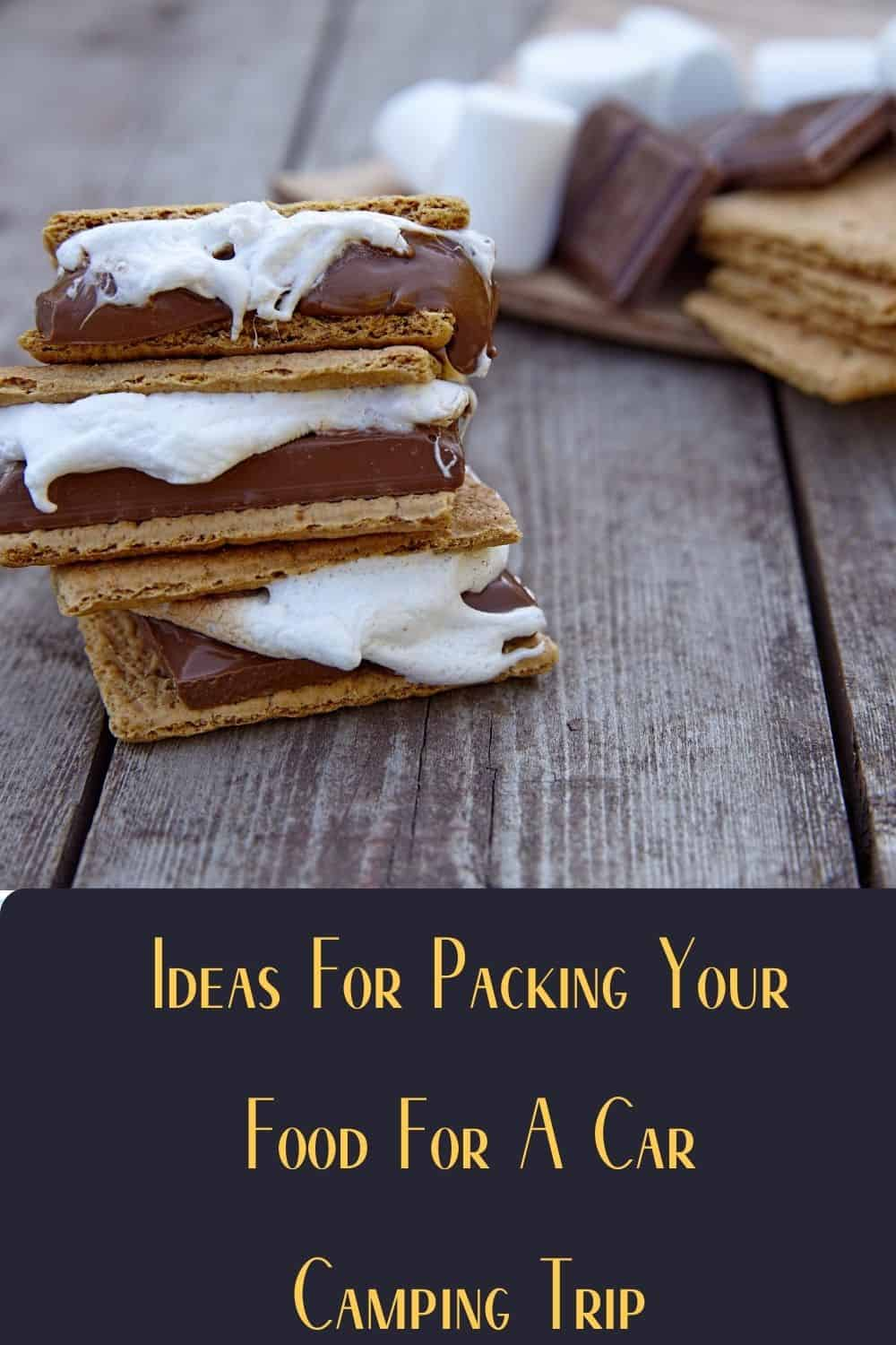 Pinterest image for Tips For Packing Your Food For A Car Camping Trip