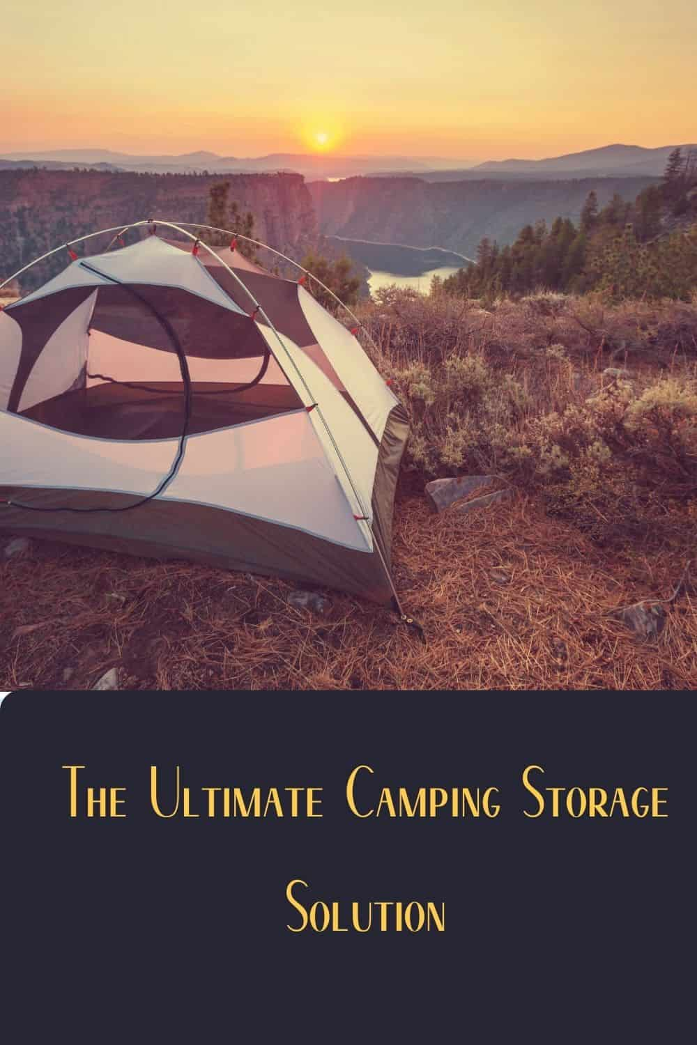 Pinterest image for What Is The Best Camping Gear Storage Solution